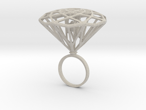 Diamond Bird Steel size 17.5 mm in Natural Sandstone