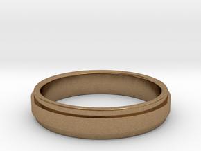Ø0.666 inch/Ø16.92 mm Ring Model A in Natural Brass