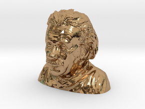 Einstein Bust in Polished Brass