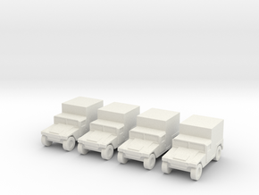 1/200 Humvee M1037 set of 4 in White Natural Versatile Plastic