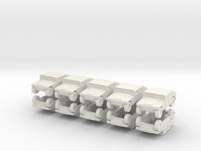 1/200 Humvee M1025 set of 10 in White Natural Versatile Plastic