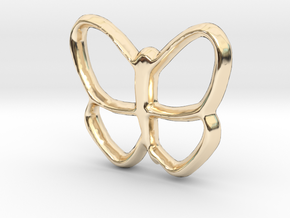 Butterfly Charm - 11mm in 14K Yellow Gold