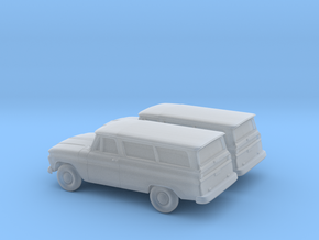 1/200 2X 1966 Chevrolet Suburban in Smooth Fine Detail Plastic