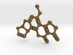 Aflatoxin B1 Molecule Necklace in Polished Bronze