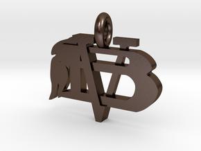 VBHSPendant in Polished Bronze Steel
