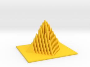 Miniature Pyramid Sculpture in Yellow Processed Versatile Plastic