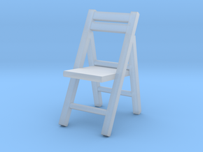 1:72 Wooden Folding Chair in Smooth Fine Detail Plastic