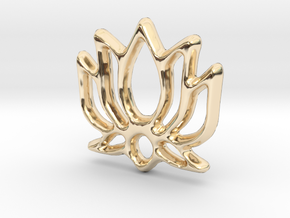 Lotus Charm - 11mm in 14K Yellow Gold