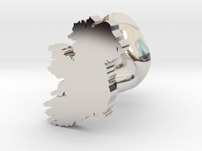 Sligo Cufflink in Rhodium Plated Brass