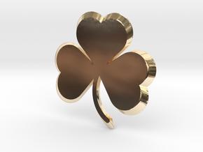 Customizable Shamrock Pendant in 14K Yellow Gold