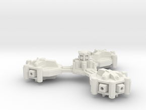 Heavy gun platform in White Natural Versatile Plastic