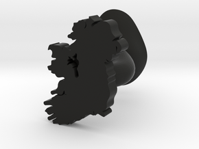 Roscommon Cufflink in Black Natural Versatile Plastic