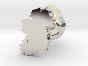 Waterford Cufflink in Rhodium Plated Brass