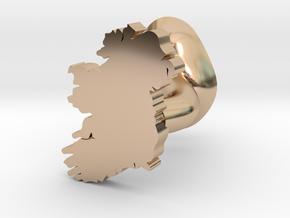 Waterford Cufflink in 14k Rose Gold Plated Brass