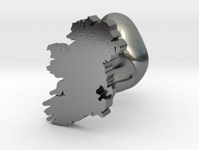 Wicklow Cufflink in Polished Silver