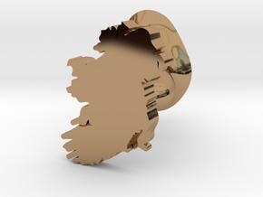 Wexford Cufflink in Polished Brass