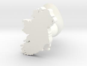 Wexford Cufflink in White Processed Versatile Plastic