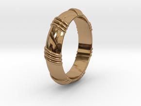 Ø0.650 inch/Ø16.51 mm Ring in Polished Brass