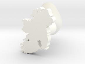Kilkenny Cufflink in White Processed Versatile Plastic