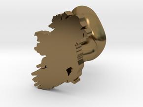 Carlow Cufflink in Polished Bronze