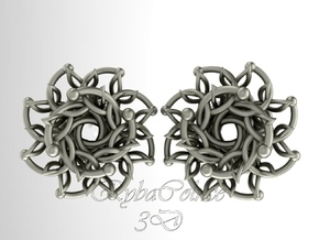 """Plugs / gauge / size 9/6"""" (14mm) in Polished Silver"""