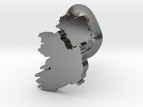 Ulster Cufflink in Polished Silver