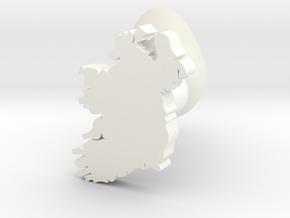 Derry Cufflink in White Processed Versatile Plastic