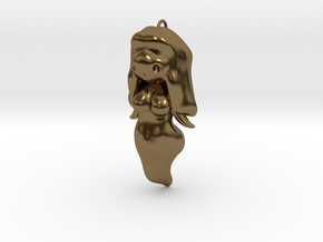 BooGhast the Little Ghost Girl Charm in Polished Bronze