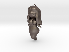 BooGhast the Little Ghost Girl Charm in Polished Bronzed Silver Steel