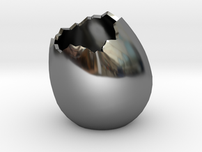 EggShell2 in Fine Detail Polished Silver