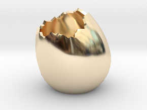 EggShell2 in 14k Gold Plated Brass
