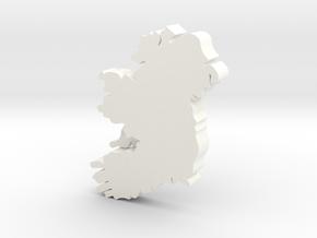 Clare Earring in White Processed Versatile Plastic