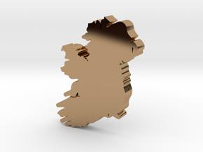 Sligo Earring in Polished Brass