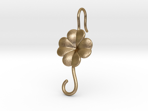Lucky Earring With Hook in Polished Gold Steel