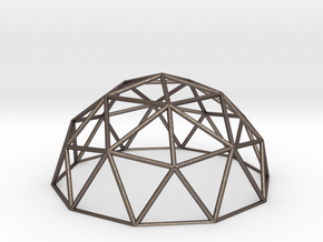Geodesic Dome in Polished Bronzed Silver Steel