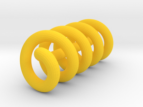 Continuous Helix Small in Yellow Processed Versatile Plastic