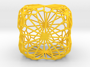 Sunburst Cube in Yellow Processed Versatile Plastic
