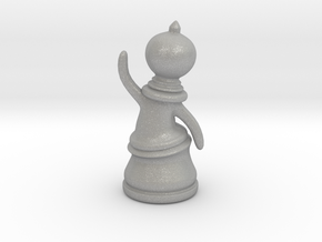 Waving Pawn in Aluminum