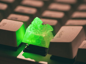 Dragon Keycap (Cherry MX DSA) in Smoothest Fine Detail Plastic