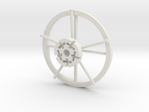 Hampton Boat Sweeps Track And Center Hub in White Natural Versatile Plastic