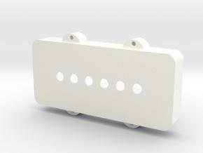 Jazzmaster Pickup Cover - Standard in White Processed Versatile Plastic