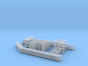 1/32 scale Rowing Set For Gino in Smooth Fine Detail Plastic
