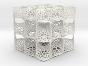 Diamond Surface Mathart in White Natural Versatile Plastic