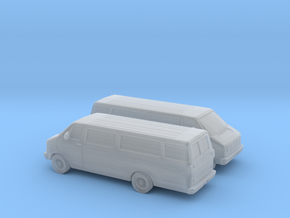 1/160 2X 1986-93 Dodge Ram Van 3500 in Frosted Ultra Detail