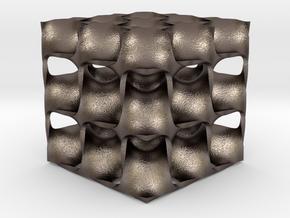 Diamond Math Geometry in Polished Bronzed Silver Steel
