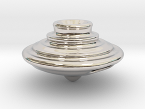 Impeller Top v2 in Rhodium Plated Brass