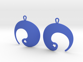 Enso No. 1 Earrings in Blue Processed Versatile Plastic
