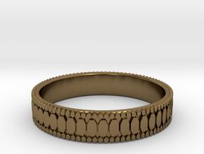 Ø0.687 inch/Ø17.45 mm Ring in Polished Bronze