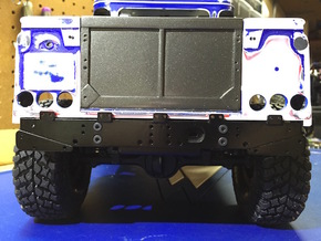 Defender Rear Bumper - All Options in Stainless Steel