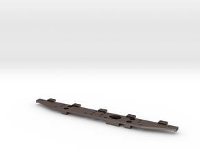 Defender Rear Bumper - Tab Mounts Only in Polished Bronzed Silver Steel